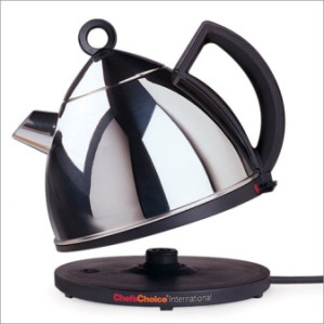 A plug in kettle