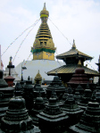 お寺のステゥパー Buddhist Stupa